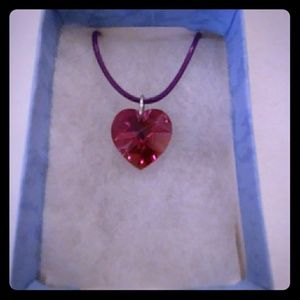 Jewelry - Fresh Rose Crystal Heart Necklace
